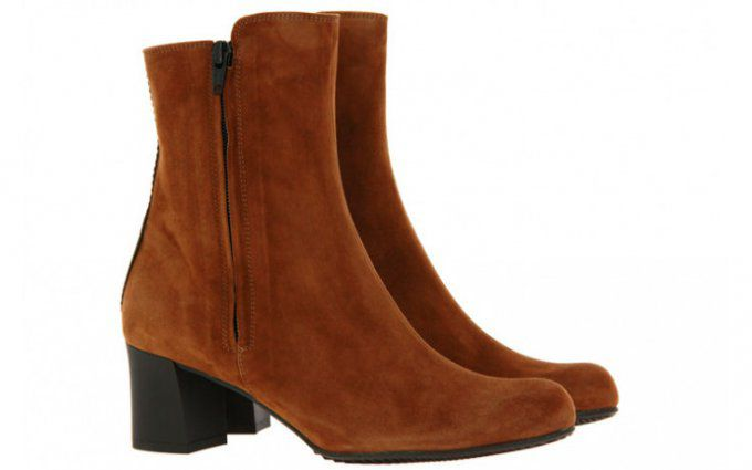 Brunate Bottines nubuck tabac