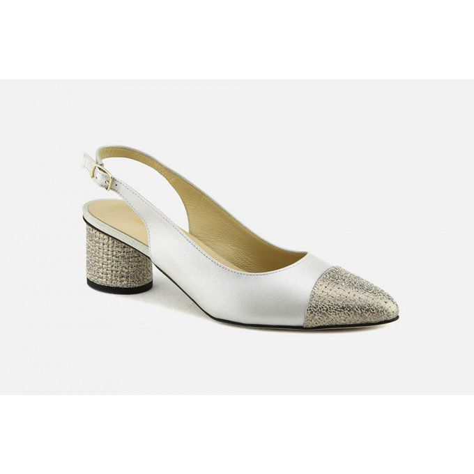 BRUNATE Escarpin  beige/or